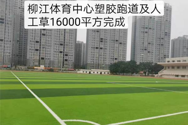 柳江体育中心塑胶跑道及人工草16000平方