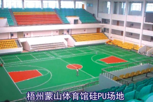 梧州蒙山体育馆硅PU场地