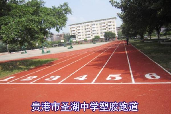 贵港市圣湖中学塑胶跑道